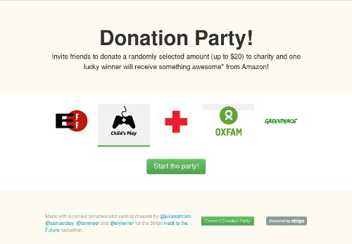 Donation Party screenshot